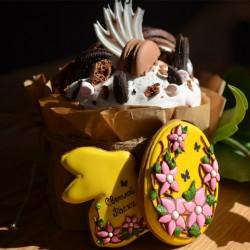 Краффін з шоколадом та макаронами